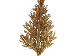 Bijsteker Kerstboom 14cm+20cm stok glitter goud