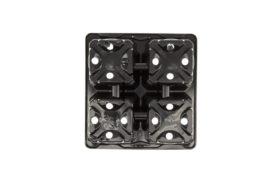 Tray 1×4 pack Ø9cm / 9x9cm