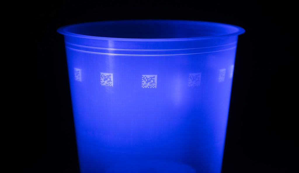 2D QR-code met UV-inkt - Van Krimpen