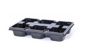 PET tray duitse maat 6x 11x11 Vierkant Rond